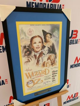 Wizard of Oz movie poster signed by 8 Munchkins