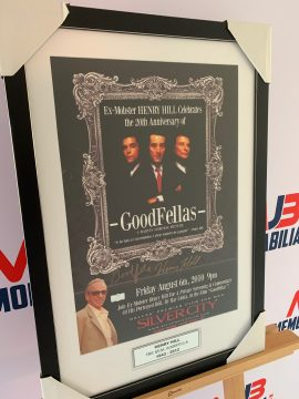 GOODFELLAS 20th Anniversary Poster signed by the Original Gangster Henry Hill