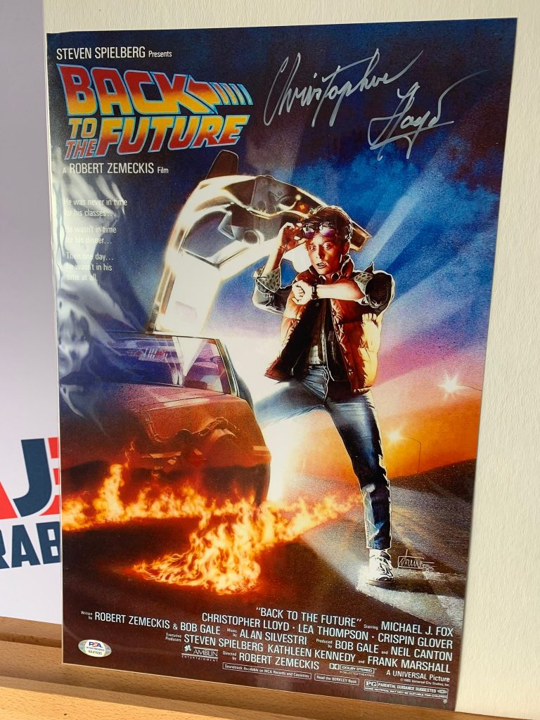 Back to the Future Signed Poster