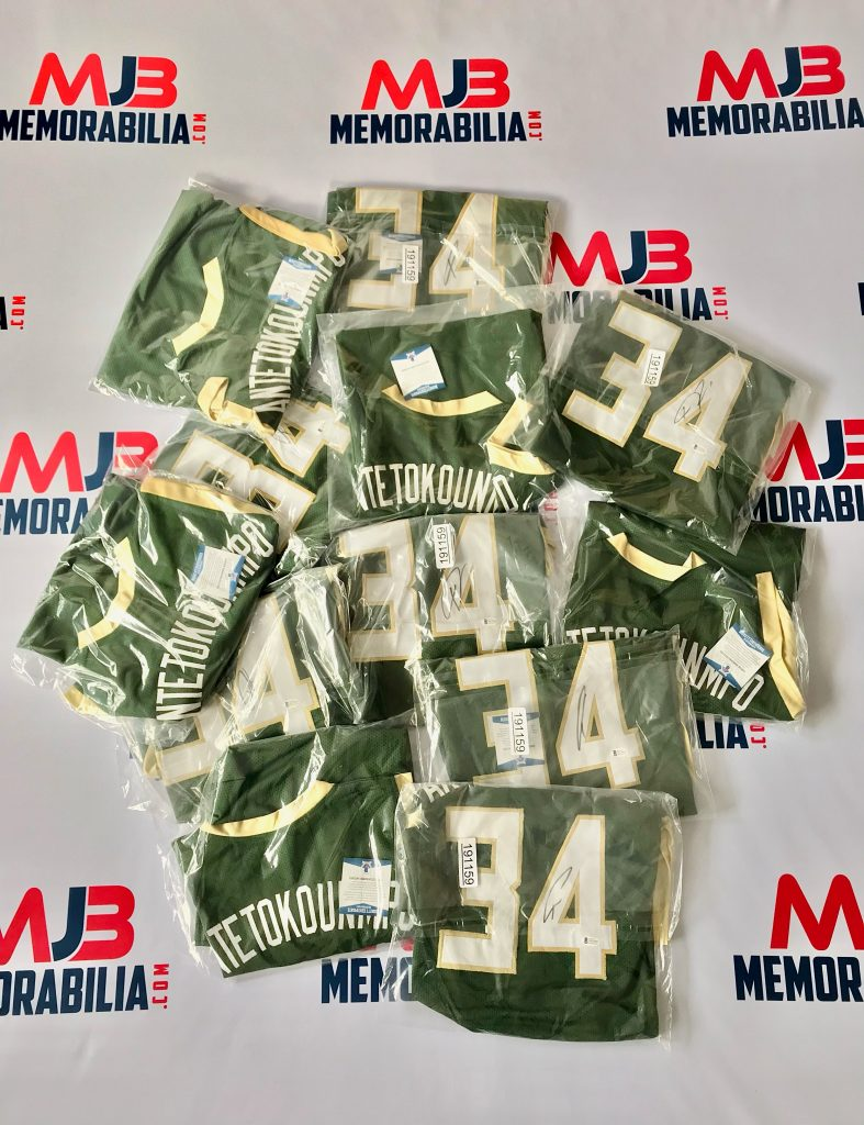 Giannis Antetokounmpo Signed Jersey