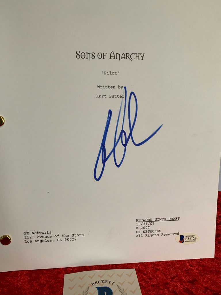 Signed Sons of Anarchy Script